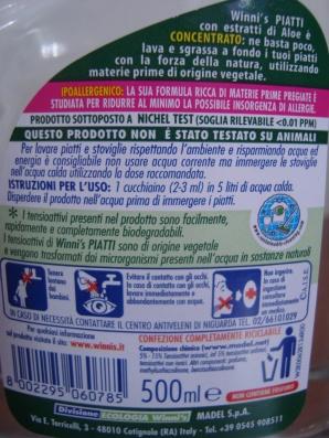 Prodotti Winni's : l'etichetta