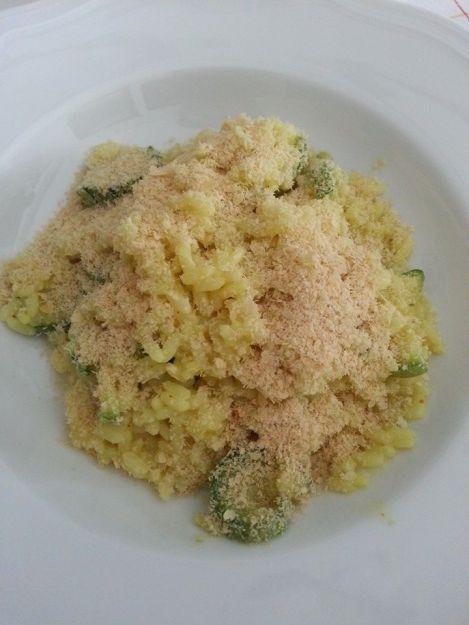 risotto zucchine e curcuma