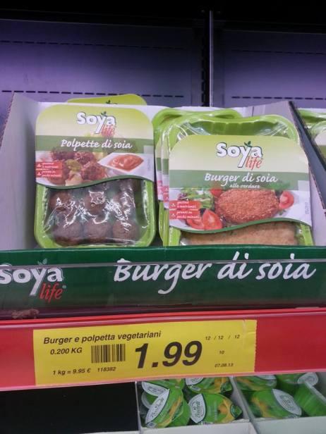 burger di soia