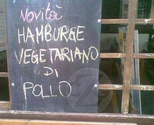 hamburger vegetariano pollo