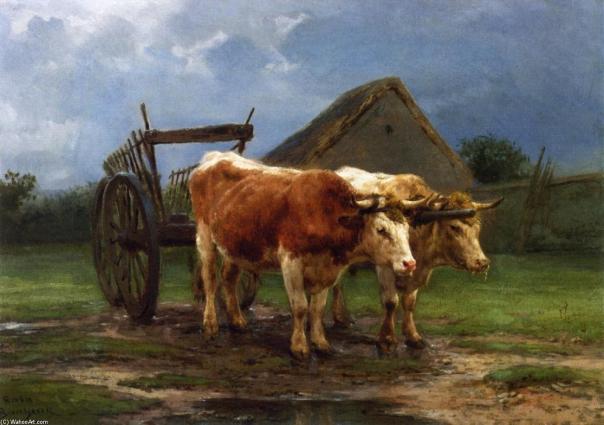 Rosa-Bonheur-Oxen-Pulling-a-Cart