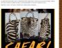 °° Una Testa di Zebra come Borsetta : Ecco l'ORRIDA Moda Firmata SAFARI FASHION°°