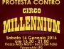 °° Fucecchio (FI) 16/01/2016 – Protesta contro il Circo Millennium°°