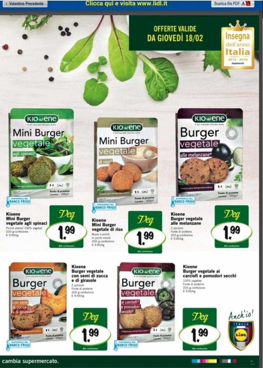 °° Novità LIDL : Arrivano gli Alimenti Vegani ( In Offerta a Febbraio ) °°